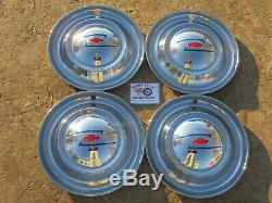 1949 Chevy Deluxe, Accessory 15 Wheel Covers, Hubcaps, Set Of 4 Very Rare