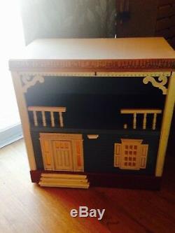 1970's SINGER Dollhouse Kids/Girl Twin Bedroom Furniture Set Very RARE