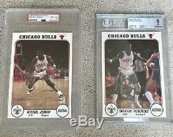 1985 Bulls Interlake Set With Michael Jordan PSA 8 & Woolridge BGS 9. Very Rare