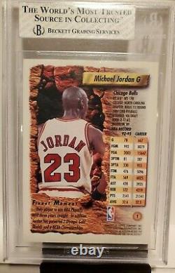 1993-94 Topps Finest Michael Jordan REFRACTOR BGS 8 VERY RARE Bulls 9.5 not psa