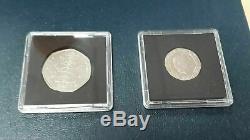 2009 Genuine Kew Gardens 50p & Undated 20p Error Mule Coins a Very Rare Set