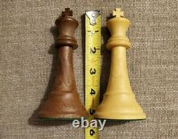 38B VINTAGE DRUEKE Chess Set VERY RARE 5 King + Walnut Box EXCELLENT