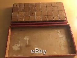 Antique LEGO wooden blocks 36 blocks 1940`s Lego. Very rare