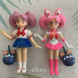 Bandai Sailor Moon figure Set of 11 vintage very rare used From Japan DHL FedEx