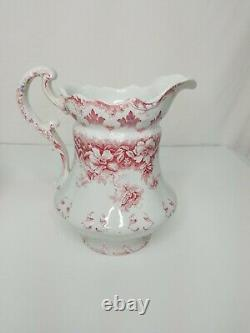 Beautiful VINTAGE Antique White Pitcher and Wash Basin Bowl Set VERY RARE