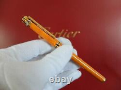 Cartier Must Fountain Pen With 18K Gold Nib Very Rare Brand NEW Set