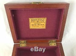 Chess Set Staunton Jaques Fremont Very Rare Red & White Circa 1900-1920 With Box