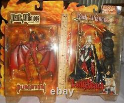 Dark Alliance Figures Lady Death, Purgatori, Cremator 3 Figure Set Very Rare Htf