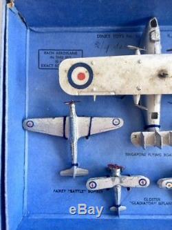 Dinky Toys VERY RARE R. A. F Aeroplanes Set No. 61 Pre War (1937 1941)