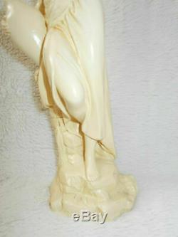 Figurine statuette candlestic Vintage Very Rare Set. Ceramics 1970s