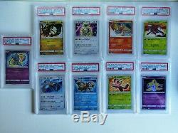Full jap set pokemon shining (Shining Legend) PSA 10 gem mint (9 card) very rare