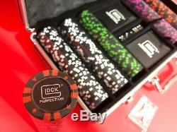 Glock Poker Set With Glock Perfection Sticker Decal Genuine Very Rare