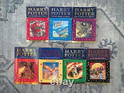 Harry Potter Book Set Complete Celebratory 1st Edition Very Rare Metallic Cover