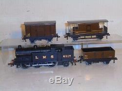 Hornby Dublo-Very Rare LMS Goods Set-Green N2 (6917) excelnt/boxd c1947