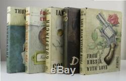 Ian Fleming Complete Set Of First Edition James Bond Books 1st Very Rare