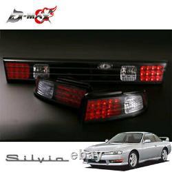 JDM NISSAN Silvia S14 KOUKI D-MAX LED Tail Lamp & Garnish 3 Set Black Very Rare