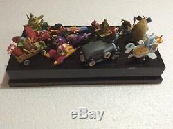Konami Wacky Races Figure Full Set With Plastic Case! Very RARE