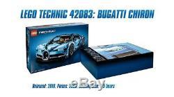 Lego Bugatti Chiron Technic # 42083 (Sealed) (Very RARE) stickers / books (NEW)