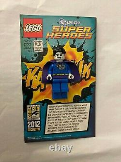 Lego DC Bizarro Minifigure 2012 Sdcc San Diego Comic Con Very Rare
