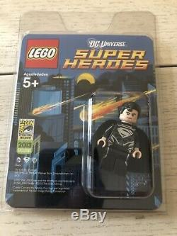 Lego DC Black Suit Superman Mini Figure 2013 Sdcc Very Rare