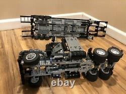 Lego Technic MOC Truck based on 8285 + flatbed trailer. Very rare. Assembled