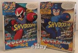 Megaman Set (Rare) Blues (New) & Rockman (Used) Very Rare Vintage Figures