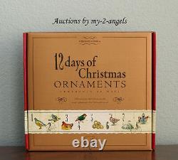 NEW Williams-Sonoma 12 Twelve Days of Christmas Glass Ornaments SET/12 VERY RARE