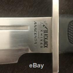 Original BlackJack Knives Anaconda 1 & 2 Set Very Rare, I & II Sheaths, Japan