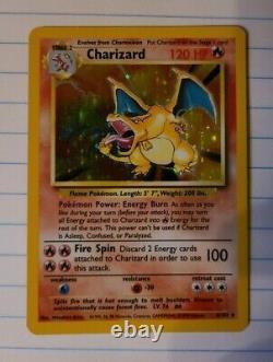 Pokemon Base Set 4/102 Shadowless 1st edition Charizard very rare