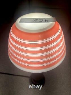 Pyrex Rainbow Pink Stripe 3pc Mixing bowl Set, Very Rare 401, 402 & 403