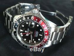 Steinhart 39mm Coke GMT old Logo+spare NOS bracelet incl full set-very Rare 2007