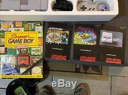 Super Nintendo Super NES Super Game Boy Set Very Rare Complete In Box SNES CIB