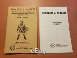 The Original TSR DUNGEONS AND DRAGONS WHITE BOX SET (VERY RARE and VG+!) 6th p