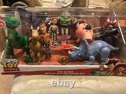 Toy Story Disney Store Pixar Deluxe Action Figure Set Stretch Trixie VERY RARE