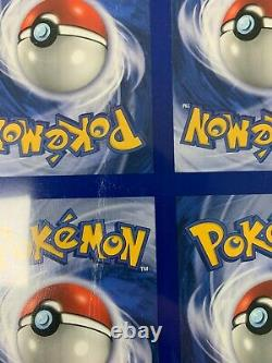 Uncut Pokemon Fossil Set Holo Card Sheet Very Rare See Pics For Condition