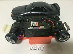 Used Very Rare Kyosho MINI-Z Racer R32 SKYLINE GT-R Body&AWD Chassis set DRIFT