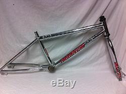 VERY RARE Chrome 1993 MCS MAGNUM GROUP PRO CR-MO FRAME & FORK Old School BMX Set