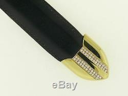 VERY RARE Edward H. Bohlin 18k Gold & Diamonds 4 pc Belt Buckle Set Hollywood CA