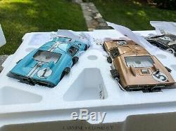 VERY RARE Exoto 118 1966 Ford GT40 MKII Gift Set #2, #1, #5 1-2-3 Winners