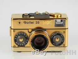 VERY RARE ROLLEI 35 LIMITED GOLD EDITION 75th Ann. SET IN WOODEN DISPLAY BOX