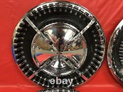 VERY RARE Vintage Set Of 4 1960 Dodge 15 Flipper Hubcaps Dart Polara Seneca GC