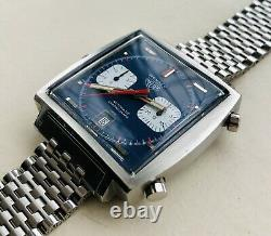 Very RARE 1972 Heuer 1133B Vintage Steve McQueen Monaco Watch FULL SET! + Papers