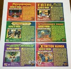 Very Rare 1994 Marvel Fleer Ultra X-men Silver X-overs 1-6 Complete Foil Set