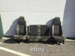 Very Rare 2005 Jeep Wrangler Willys Edition Seats TJ LJ Camo Set of 3