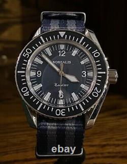 Very Rare Borealis Estoril 300 V1 Blue Dial Automatic Divers Watch Box Set
