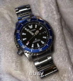 Very Rare Citizen Promaster Ny0098-84e Fugu Jdm Automatic Divers Watch & Box Set