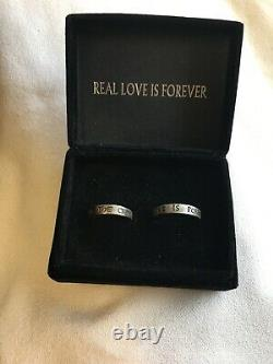 Very Rare Collectible 2002 The Crow Ring Set Real Love Is Forever Size 7&10 VTG