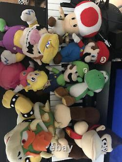 Very Rare Mario Party Plush Set COMPLETE Mario Party 5 Sanei Hudson Soft