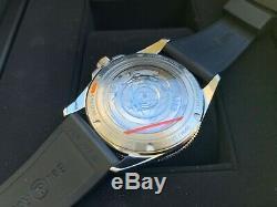 Very Rare NEW Bell & Ross Vintage V2-93 Black & Gray Bezel Watch in FULL SET