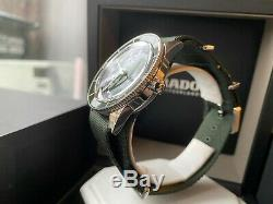 Very Rare NEW Rado Hyperchrome Captain Cook Green Dial Watch in FULL SET